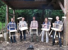 It's easy to make a chair if you have the knowledge and the tools. Here's Matt running one of his green woodworking courses this summer at Halecat. www.halecathouse.co.uk