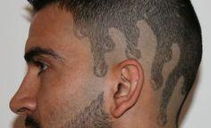 cool hair tattoo