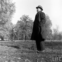 Photographic Print: Scholar C. Lewis Standing in Open Field; Hermann Hesse, Cs Lewis Narnia, Joy Davidman, Rr Tolkien, Mere Christianity, Winged Horse, Knowledge And Wisdom, Godly Man, People