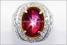 Elegant Metalik Pigeon Blood RUBY Star (Code : RBS 157)