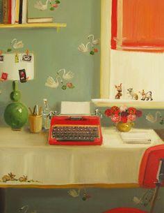A melodrama by Janet Hill, via http://www.hjartesmil.com