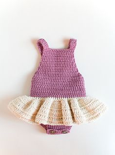 This is a listing for the crochet baby Romper Pattern - Little Ballerina.