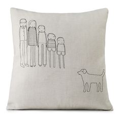 PERSONALIZED FAMILY PILLOW | Customized Embroidery, Cushion, Hemp Fabric, Couch Accessories | UncommonGoods Family