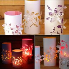 DIY Dimensional Flower Paper Lanterns with Template