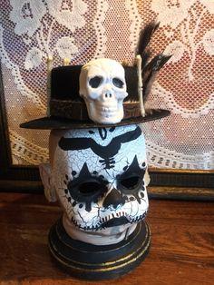 Costume Parties, Halloween Party Costumes, Halloween Decorations, Voodoo Costume, Voodoo Halloween, Voodoo Priest, Halloween Potion Bottles, Velvet Hat, Bottle Lights