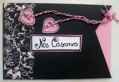 invitacion de boda  papel  cartulina scrapbooking