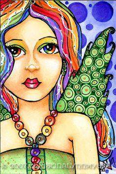 Glisten Fairy angel fantasy fairy art print by Christina Lynn Myers 5x7 $7.00