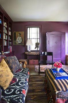 Boho purple living room