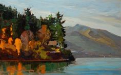 """Daily Paintworks - """"Seabeck Landscape  plein air landscape by Robin Weiss"""" © Robin Weiss"""