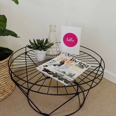 Plant stand from Kmart Australia, sprayed black. #KmartHack
