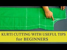 Easy Kurti Cutting For Beginners With Very U. Sewing Pants, Sewing Clothes, Cut Clothes, Baby Girl Dress Patterns, Dress Sewing Patterns, Tailoring Techniques, Sewing Techniques, Chudidhar Neck Designs, The Neighbor