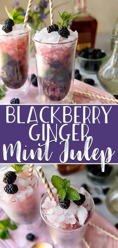 This Blackberry Ginger Mint Julep is a twist on an icy and refreshing spring tradition, and perfect for any Derby Day brunch! Minted simple syrup and blackberries are muddled together with good strong Kentucky bourbon, then topped with ginger beer for an added kick of flavor. #crumbykitchen #brunchweek #sponsored #blackberry #ginger #gingerbeer #mint #mintjulep #recipe #kentuckyderby #derbyday #brunch #mothersday #spring #summervibes #cocktail #drinks #bourbon #whiskey #easyrecipe #holiday