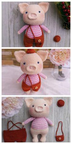 Web Server's Default Page Crochet Dinosaur Patterns, Octopus Crochet Pattern, Amigurumi Doll Pattern, Crochet Pig, Kawaii Crochet, Crochet Amigurumi Free Patterns, Cute Crochet, Amigurumi Toys, Amigurumi For Beginners