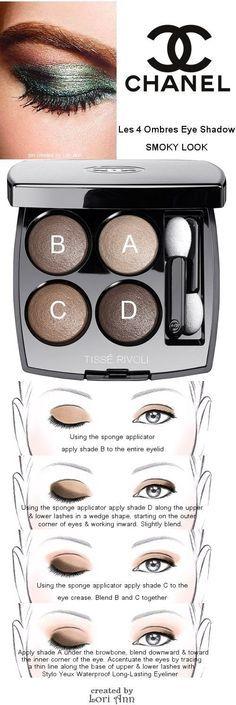 Chanel Les 4 Ombres Eye Shadow Smoky Look Tutorial
