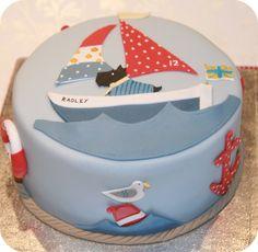 Radley cake:  Scottie in a sailboat-- A DORABLE !