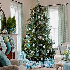 Tiffany Blue Christmas Tree & Packages