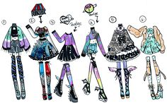 CLOSED - 6 pack Outfits by Guppie-Adopts.deviantart.com on @DeviantArt