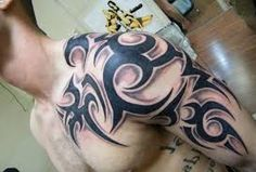 Image result for tribal tattoos for men shoulder and arm