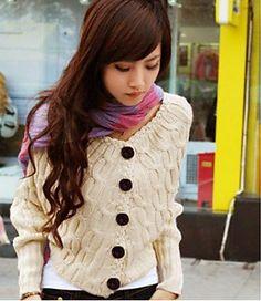 $13.99! VV Women's Cream Cotton Batwing Sleeve Sweater & Free Shipping. on DealsAlbum.com