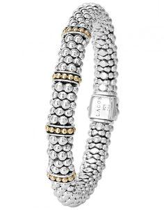 LAGOS Jewelry Enso Caviar Beaded Bracelet with 18k Gold | LAGOS.com