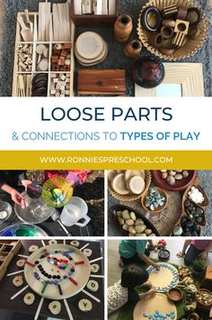 Learn all about the connections between loose parts and the 16 different types of play!  Who knew there were that many.... Different Types Of Play, Early Childhood Centre, Preschool Curriculum, Played Yourself, Play Ideas, Child Care, Early Learning, Child Development, Small Groups