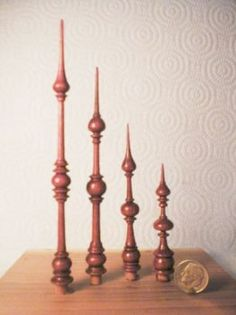 Tiny finials [Thanks for the size reference]
