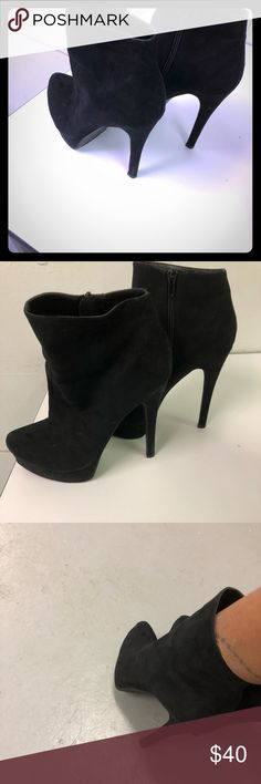 "Black 6"" booties Beautiful 6"" Chinese Laundry heels!! Chinese Laundry Shoes Ankle Boots & Booties"