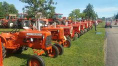 Mostly D-Series a CA is the second tractor.