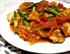 Crispy fish with tomato sauce