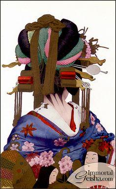 太夫 Tayuu of Shimabara by Naomi no Kimono Asobi, via Flickr. S)