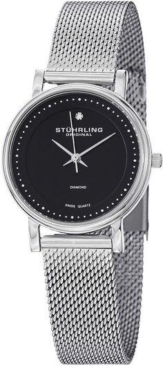 3be69abd5be Stuhrling Original Sthrling Original Womens Stainless Steel Mesh Watch  7346.02 Mesh Bracelet