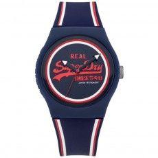 d9264629df447 Unisex Superdry Urban Retro Navy Striped Watch is retro street urban