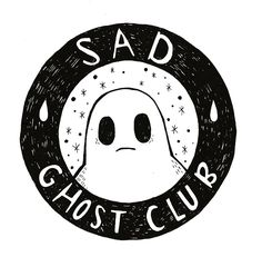 The Sad ghost's sad ghost club. A club for raising positive mental health awareness, through comics and community Club, Constellations, Raven, Art Inspo, Creepy, Art Drawings, Patches, Doodles, Artsy