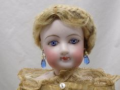 "15"" Antique FG French Fashion Doll Size 5 Original Clothes"