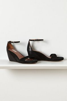 want these. Suede Twist Wedges #anthropologie