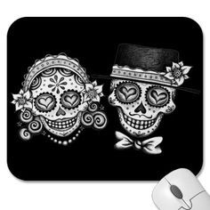 Sugar Skull Gifts on Zazzle Skull Couple Tattoo, Skull Tattoos, Couple Tattoos, Foot Tattoos, Animal Tattoos, Body Art Tattoos, Sleeve Tattoos, Trendy Tattoos, New Tattoos