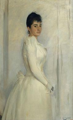 Ramon Casas - Portrait of Montserrat Carbó, 1888