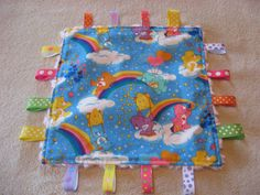 CareBears Baby Girl Sensory Ribbon Tag Lovey. $10.00, via Etsy.