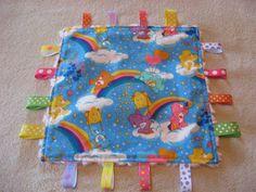 CareBears Baby Girl Sensory Ribbon Tag Lovey. $10.00, via Etsy.