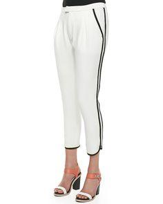 Rag & Bone Platini Side-Stripe Cropped Pant ($395)