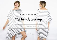 It just ticked over into Summer here in the Southern Hemisphere and I'm  celebrating the turn of season with the release of a new pattern in  collaboration with Peppermint Magazine!  If you have been following my blog this year, you would have seen the  Sweater Dress we released together in Win