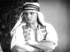 "My husband in my past life. This is the handsome Rodolfo Valentino in 1926 in the movie ""The son of the sheik""."