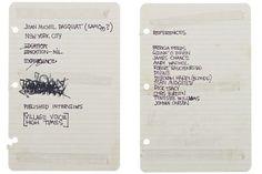 Le CV de Jean Michel Basquiat