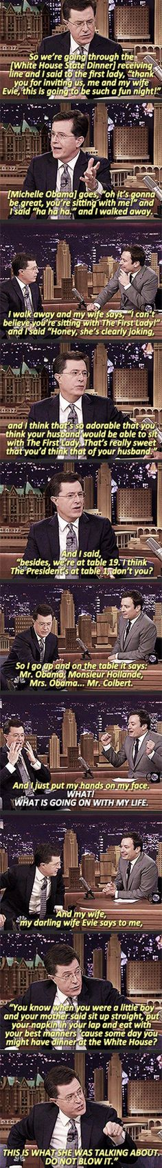 Hahaha Colbert is so great
