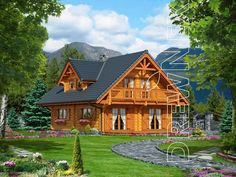 Modern Log Cabins, Cabin Plans, House In The Woods, Tiny House, New Homes, Exterior, Country, Nice, House Styles