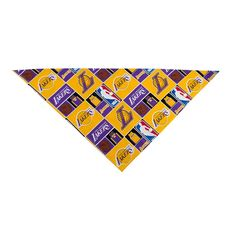 LA Lakers Dog Bandana (Large: fits neck 14-20 inches) -- Special dog product just for you. See it now! : Dog Bandanas