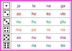 Taal - Duo - Lezen met dobbelstenen - Kern 8