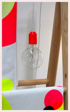 Koskela Globe Light, Fluro Red
