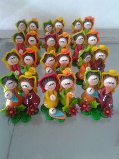 Bellos pesebres Pasta Flexible, Four Square, Biscuit, Miniature, Mary, Scarecrows, Joy, Creativity, Xmas