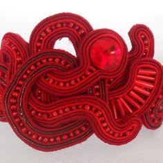 Soutache Bracelet Red Passion